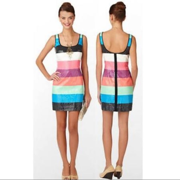 Lily Pulitzer Cocktail Party Striped Dress sz 2